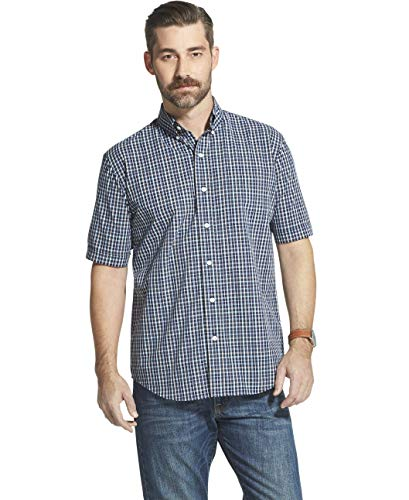 Amazon Brand - Goodthreads Men's Slim-Fit Short-Sleeve Solid Oxford Shirt with Pocket, Turquoise, Large