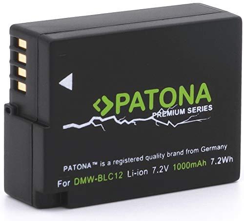 PATONA Premium Ersatz für Akku Panasonic DMW BLC12 E (1000mAh) Lumix DC FZ1000 G91 DMC GX8 G70 G81 G7 G6 G5 FZ2000 FZ1000 FZ200 FZ300