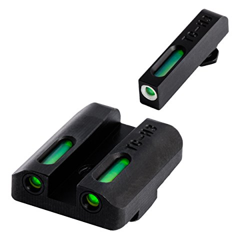 TRUGLO TFX Tritium and Fiber-Optic Xtreme Handgun Sights for Glock Pistols, Standard Height, Glock 17 17L, 19, 22, 23, 24 and more