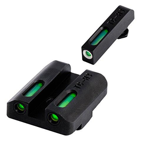 TRUGLO TFX Tritium and FiberOptic Xtreme Handgun Sights for Glock Pistols Standard Height Glock 17/17L 19 22 23 24 and more