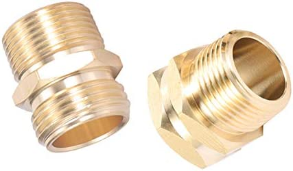 ZKZX Garden Hose Adapter 3 4 GHT Male x 3 4 NPT Male Connector with 3 4 GHT Female x 3 4 NPT product image