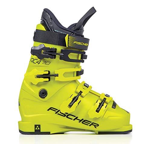 FISCHER Unisex Jugend, gelb, Junior Skischuhe RC4 70 JR Thermoshape, 23.0, 230