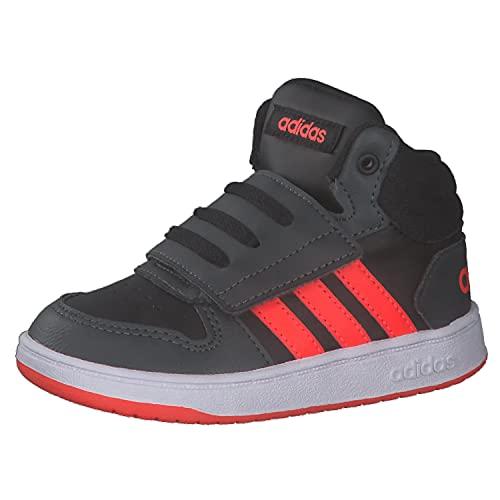adidas Hoops Mid 2.0 I, Zapatillas, NEGBÁS/Rojsol/GRISEI, 24 EU