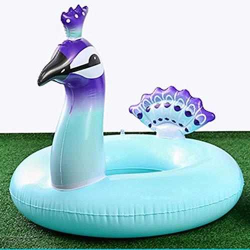 ZhuHaoKeJi Nuevo corazón gigante anillo de natación flamenco unicornio flotador de piscina inflable cisne flotadores de piña tucán pavo real agua juguetes en anillos de natación( one size H03)