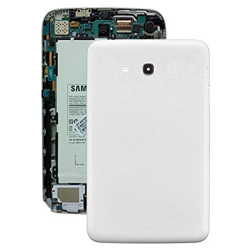 Battery Back Cover for Galaxy Tab 3 V T110 (White) Premium Quality (Color : White)