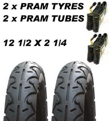 Heavy Duty Set De Pneus Et Tubes for Urban Detour Poussettes 12 1//2 X 2 1//4