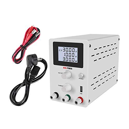 Fuente de alimentación de laboratorio ajustable0-30V/0-10A,fuente de alimentación ajustable de CC,con pantalla...