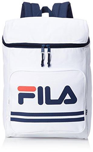 [フィラ] リュック メンズ レディース リュックサック 大容量 スクエアー カジュアル 18l a4サイズ 通学 通勤 旅行バッグ ブランド 軽量 FM2007 ネイビー WHITE F