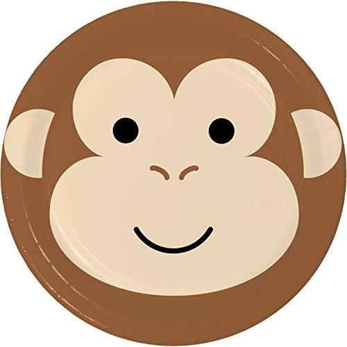 Monkey Dessert Plates, 24 ct
