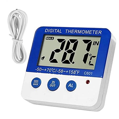Termómetro congelador de nevera Sensor de temperatura digital con indicador LED para cocina, termómetro