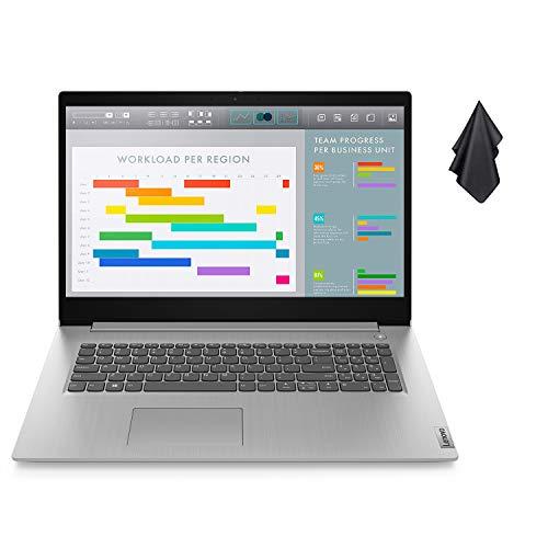 """2021 Newest Lenovo IdeaPad 3 Laptop, 17.3"""" HD+ Display, Intel Core i5-1035G1 Processor (Beats i7-8565U), 20GB DDR4 RAM, 512GB PCIe SSD, HDMI, Bluetooth, Wi-Fi, Webcam, Windows 10, Grey + Oydisen Cloth"""