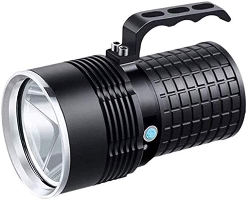 XUERUIGANG Linterna, Foco Recargable, 5 Modos de luz y Cargador USB, Linterna de Mano Impermeable, para Senderismo, Camping, navegación, Caza, Negro