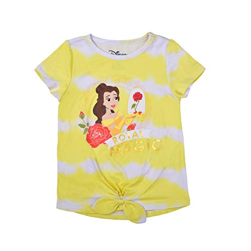 Disney Girl's Beauty and The Beast Short Sleeves Tee Shirt for Kids,...