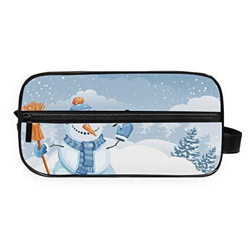 LUPINZ Snow Man avec Yellowbird Sacs cosmétiques Voyage Trousse de toilette Sac de salle de bain Sac de rangement