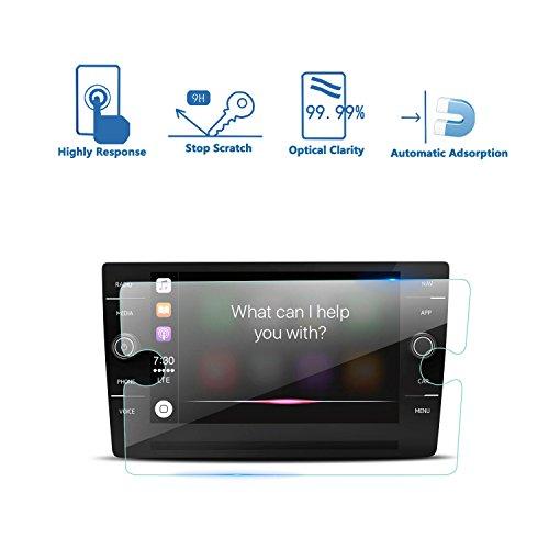 LFOTPP Passat B8 8 inch navigatiefolie, 9H krasbestendig GPS Navi pantserglas, HD glas displaybeschermfolie