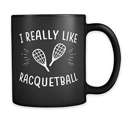 Taza de raquetbol, regalo de raquetbol, taza de squash, regalo de squash, regalo de jugador de squash, entrenador de squash, regalo de raqueta, taza de cerámica, 325 ml