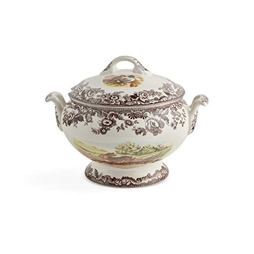 Spode Woodland Covered Soup Tureen with Rabbit, Quail, and Pintail