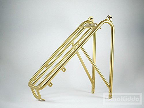 Dino Kiddo Gold titanium rear regular size rear rack for Brompton Folding Bike