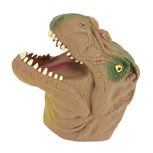Fdit Dinosaure Tête Main Marionnette Enfants Parents Histoires Interactives Jeu De Rôle Jouet Intéressant(Brun)