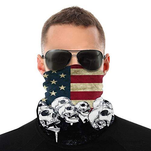 Quintion Robeson Polainas para el Cuello con Bandera de Puerto Rico para Hombres, Bufanda para esquí y Motocicleta, Bandas para la Cabeza, Polainas para el Cuello