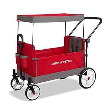 Radio Flyer Convertible Stroller Wagon Red