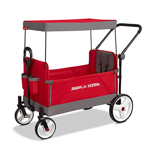 Radio Flyer Convertible Stroller Wagon, Red