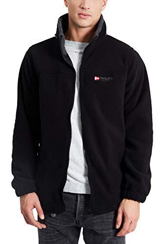 HIMALAYA MOUNTAIN - New Vercors Men - Polaire - Homme (XL, Black/Grey)