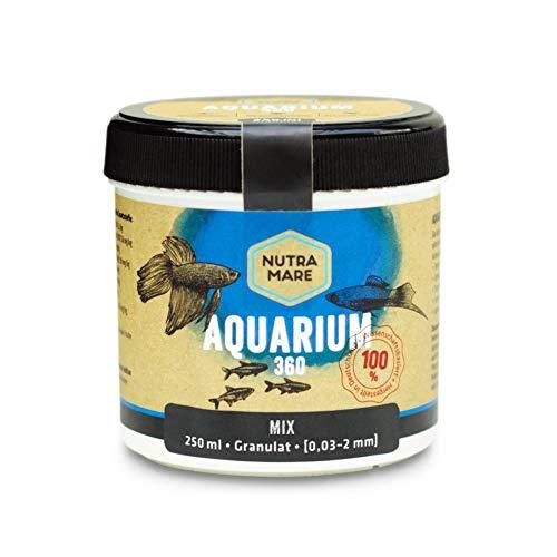 Nutramare Aquarium360 Mix 250ml   Hochwertiges Fischfutter für Zierfische, Granulat mit Spirulina