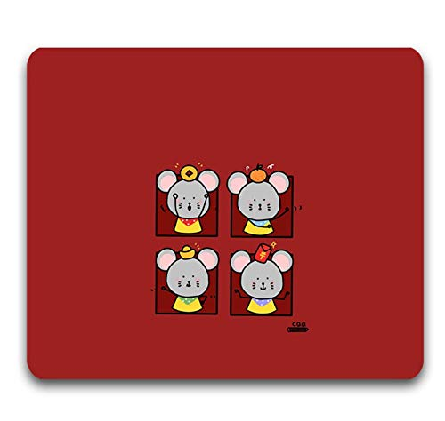 Gaming-Mauspad, Exquisite Vier Ratten Und Dekorationen, Strapazierfähiges, Verschleißfestes Gummi, Laptop-Office-Gaming-Mauspad