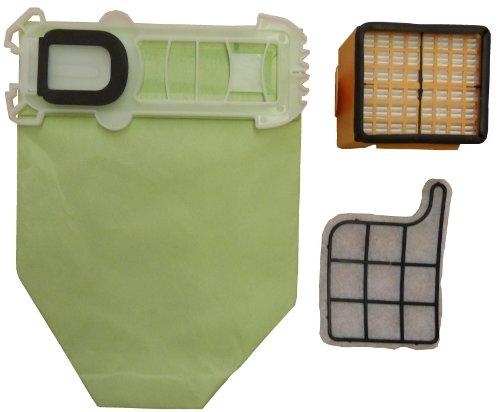 Mister vac A926 Pack de 18 sacs, 1 filtre moteur et 1 filtre Hepa pour aspirateurs en papier pour Vorwerk Kobold 135 et 136
