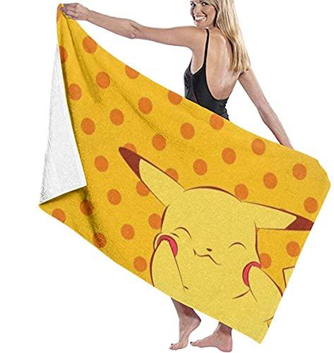 QWAS Toalla de playa Pokémon Pika-chu, fibra suave, perfecta apariencia, calidad noble, adecuada para sauna, viaje (Pokémon4,75 x 150 cm)