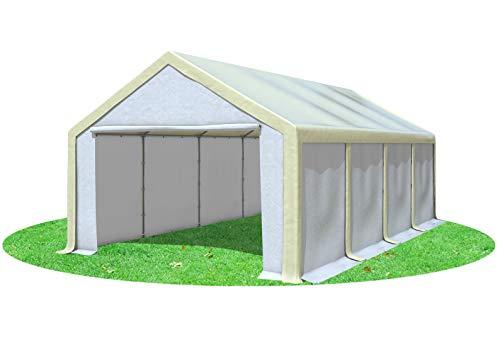 Stabilezelte Partyzelt 4x8m Modular Professional PVC 500 g/m² ohne Fenster BEIGE Weiss