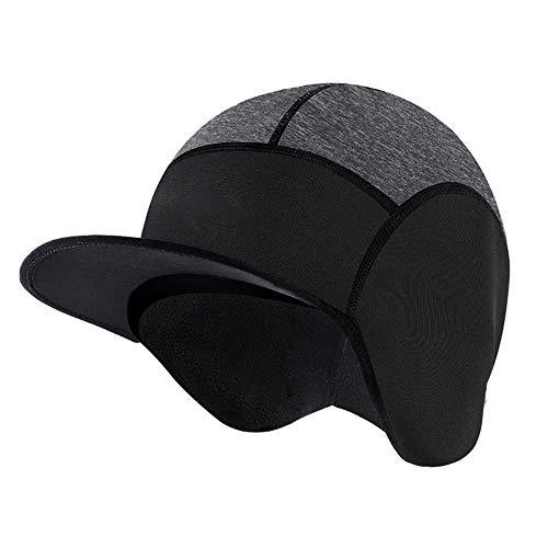 TZTED Cycling Skull Cap Helmmütze Fahrrad Mütze für Herren Damen für Outdoor-Sportmütze, ideal zum Radfahren Reiten Laufen Motorradfahren Skifahren Snowboarden,Schwarz,52~58cm