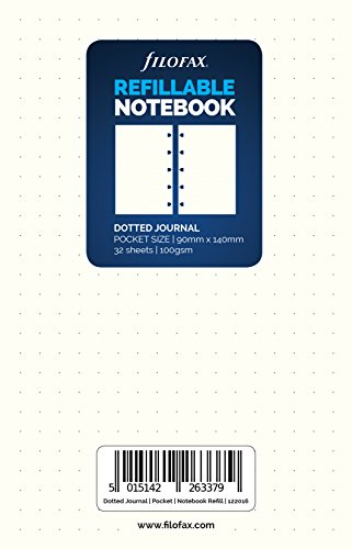 Filofax Pocket Classic weiß Dotted Tagebuch (122016) New 2017