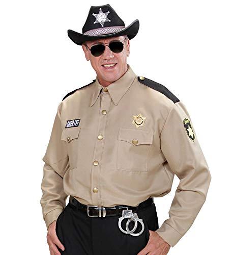 shoperama Sheriff-Hemd für Herren Kostüm Police Cop Highway Patrol Polizei Polizist Ranger Uniform USA, Größe:M/L