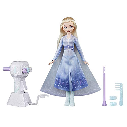 Disney Frozen Sister Styles Elsa Fashion Doll with Extra-Long Blonde Hair, Braiding Tool & Hair Clips - Toy for Kids Ages 5 & Up JungleDealsBlog.com