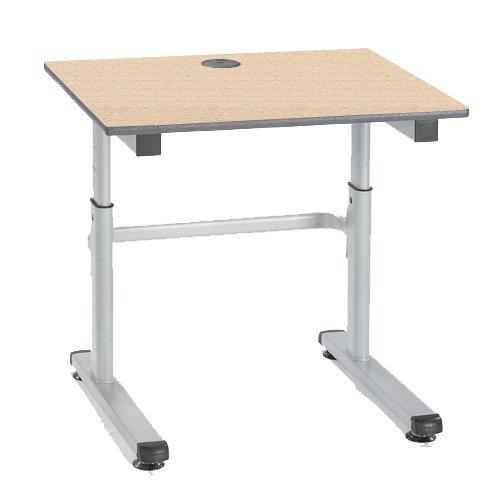 metalliform HA200/a-126-ps-bl-maple höhenverstellbar Tisch, duraform PU Blau Rand, Ahorn