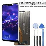 Kozyshow Kit de réparation pour Huawei Mate 20 Lite Noir & Blanc 3D Touch Digitizer écran LCD avec lentille en Verre + kit...