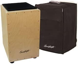 Sawtooth ST-CJ120B Cajon Birch Wood with Padded Seat Cushion and Carry Bag