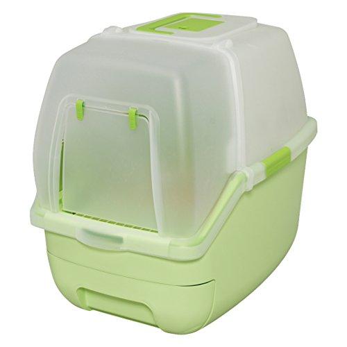 アイリスオーヤマ システムトイレ用 楽ちん猫トイレ フード付きセット グリーン