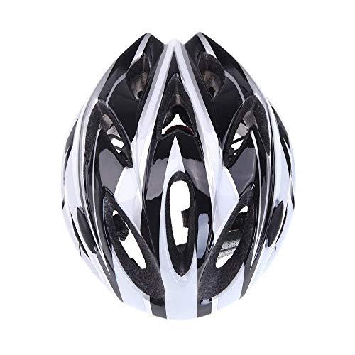 Casco de bicicleta - SODIAL(R) [Circunferencia de cabeza: 54 ~ 64cm] Estilo guapo! Ultraligero Casco de bicicleta para bicicleta de montana ir a trabajar ir a la escuel Negro + blanco