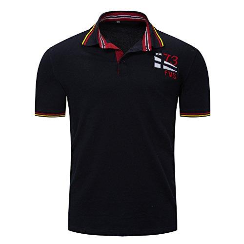 IYFBXl Lente en zomer Europese en Amerikaanse mannen korte mouwen shirt polo shirt mannen reversoverhemd FM030