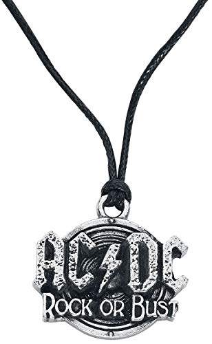 AC/DC Pendant with Cord Rock Or Bust Alchemy Pendenti Collane