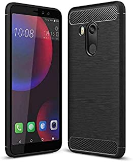 AMZER Rugged Armor Carbon Fiber Design Ultra Thin Soft TPU Case for HTC U11 Eyes - Black