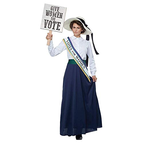 California Costumes Women's American Suffragette - Adult Costume Adult Costume, -White/Navy, Medium