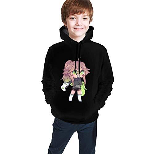 Jingliwang Lässige Hoody-Oberteile Gacha-Life Hoodie-bedrucktes Hoodie-Sweatshirt Lässige Pullover für Kinder & Pfund; & uml; Unisex & Pfund;