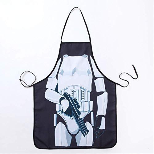 FHFF Delantal divertido con diseño de soldado de Star Wars para cocina, cena, fiesta, cocina, delantal para adultos, 54 x 72 cm, 2 unidades