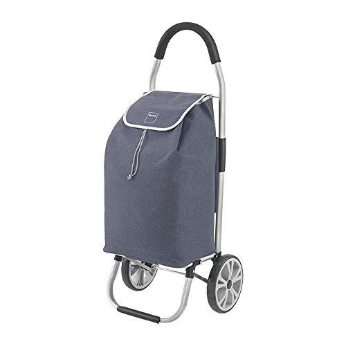 Metaltex Carro de Compra Plegable, Azul, 45 litros