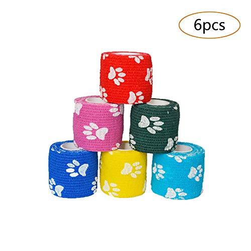 6 kleuren elastische sportbanden, verband voor huisdieren, medische bandages die worden gebruikt bij huisdieren en menselijke polsen, vingers, handpalmen, knieën, kuiten en
