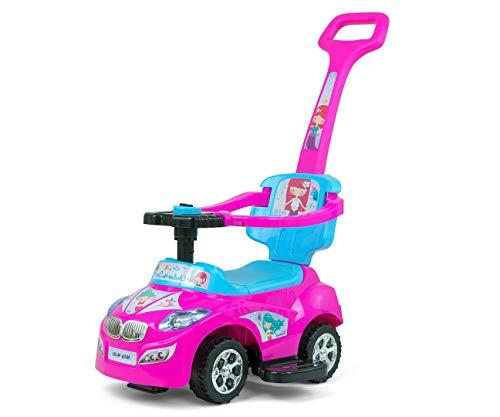 Jeździk chodzik autko 3w1 Milly Mally Happy Pink